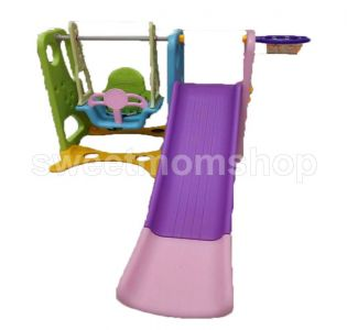 Pororo Slide and Swing Basket Ball