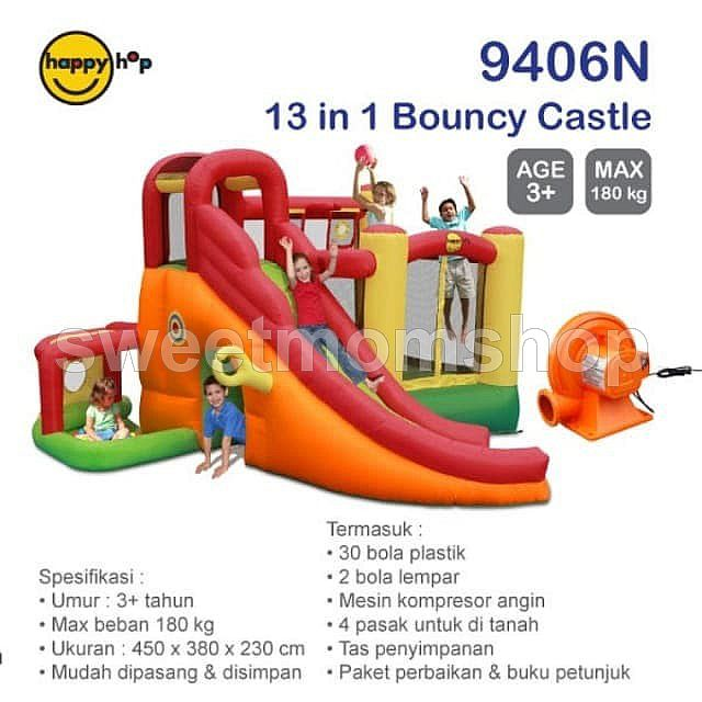 Happyhop 13in1 bouncy castle 9406n playground
