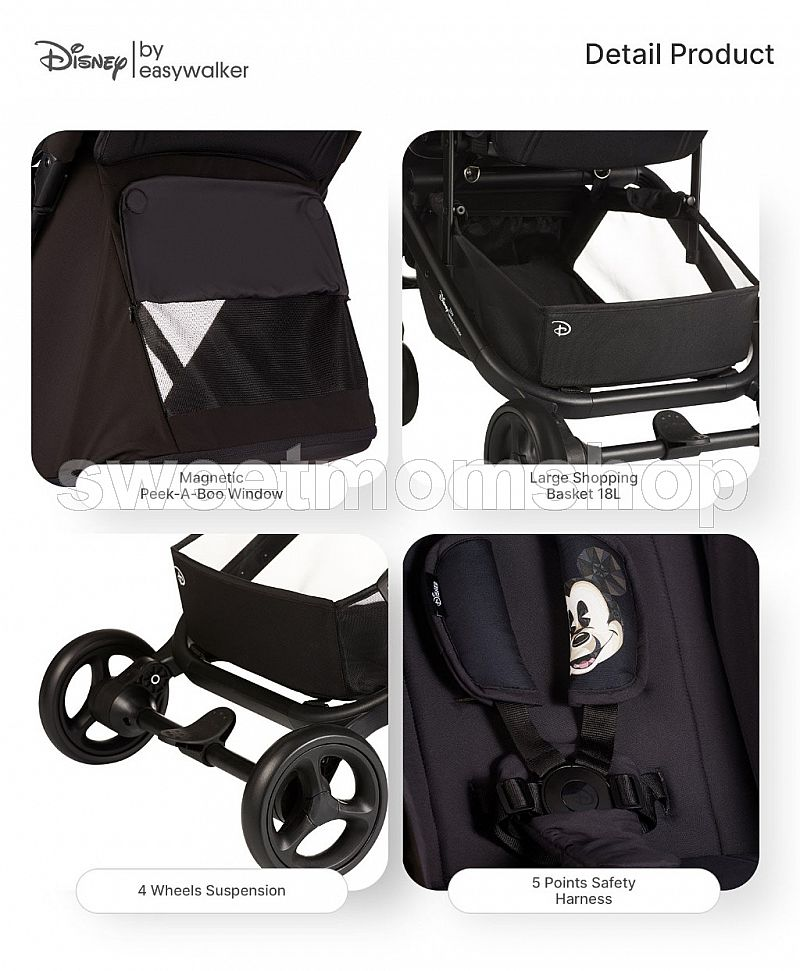 Easywalker Mini Go Stroller - Disney Mickey Diamond